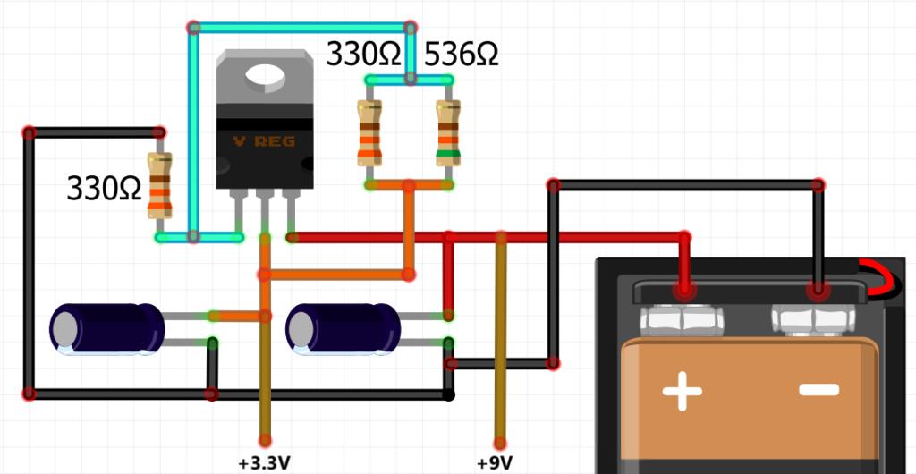 LM317 voltage regulator