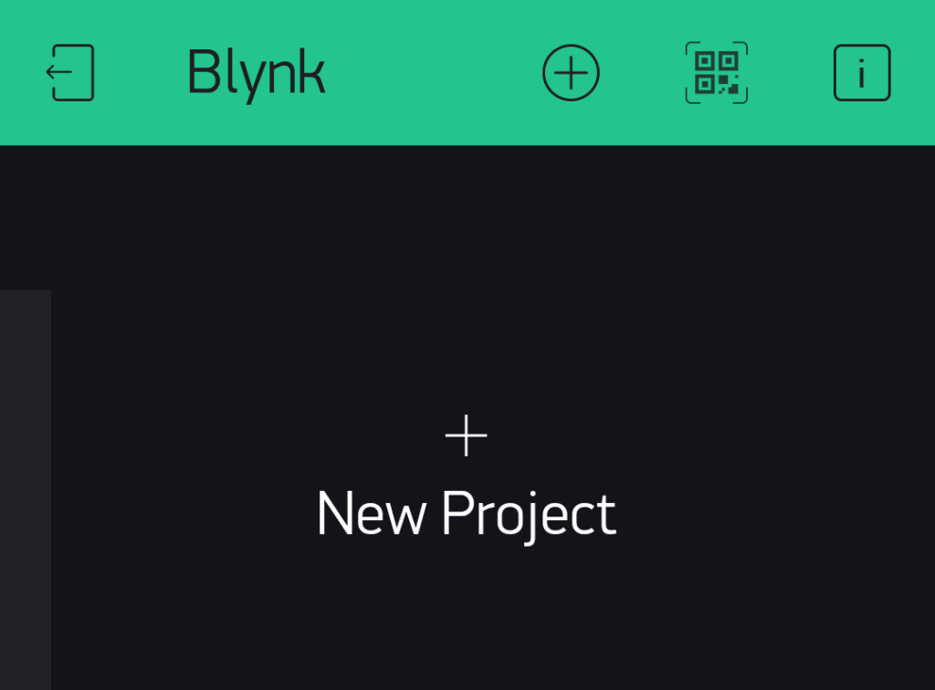 blynk new project